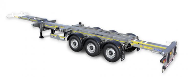 Lecitrailer containerchassis